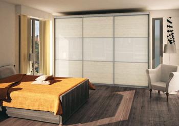 Portes coulissantes sur mesure pour meuble placard - Porte coulissante en verre sur mesure ...