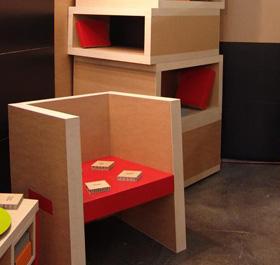 Meubles en carton alv olaire solution design et colo - Meuble en carton design ...