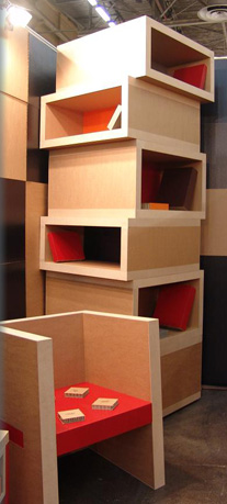 mobilier en carton alv olaire solution design et colo. Black Bedroom Furniture Sets. Home Design Ideas